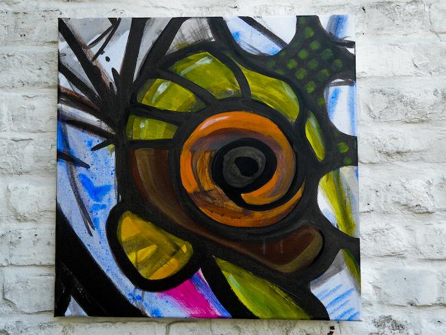 Behind the pixel S1-5    Acrylic on canvas 50x50cm  © Aimbé 2011