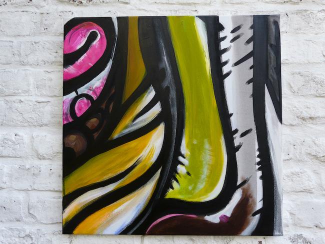 Behind the pixel S1-7    Acrylic on canvas 50x50cm  © Aimbé 2011